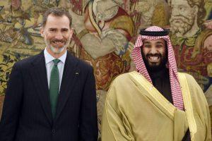 Felipe VI with Mohammed bin Salman