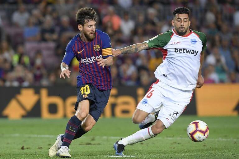 Lionel Messi in Barça's opening Ls Liga match