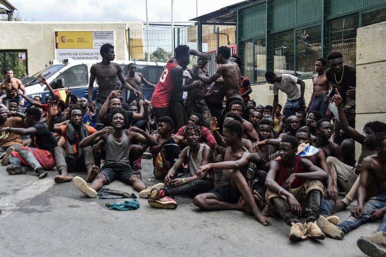 Migrants in Ceuta
