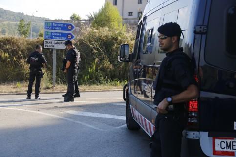 Catalan police near Barcelona