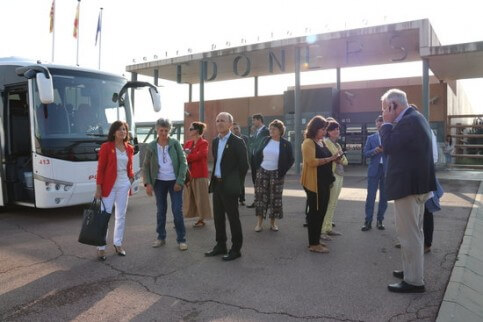MEPs outside Lledoners prison