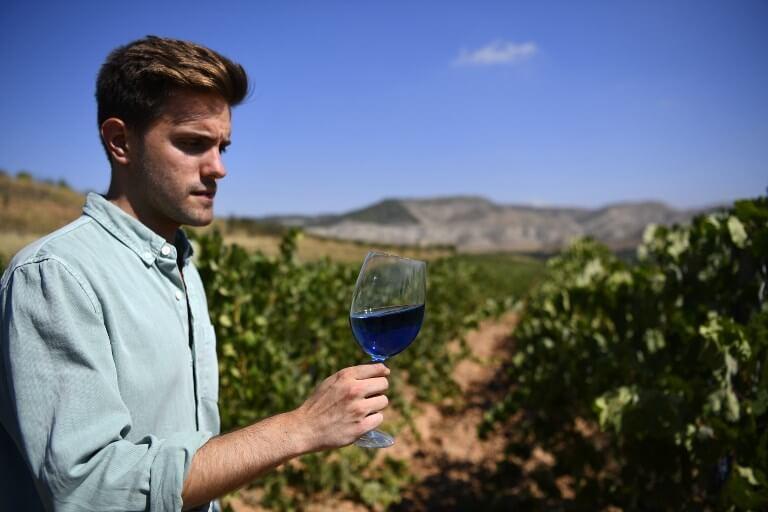 Blue wine