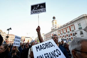 Madrid protest of Franco