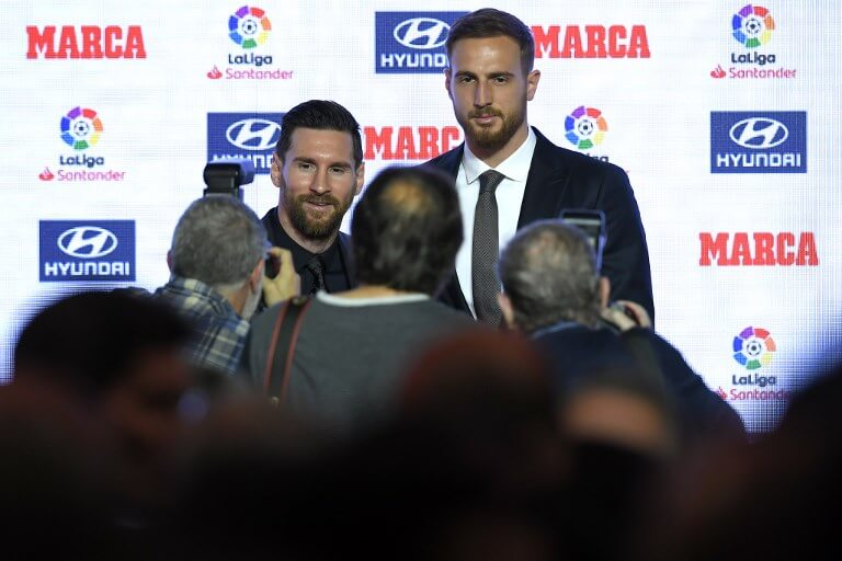 Lionel Messi and Jan Oblak