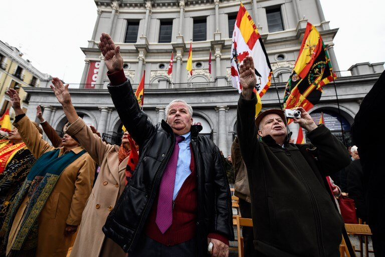 Fascist salutes Madrid