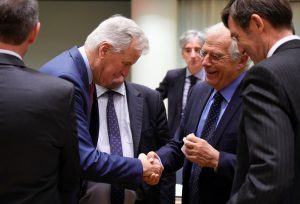 Michael Barnier and Josep Borrel