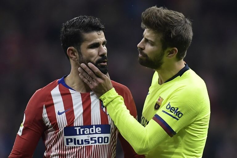 Gerard Pique and Diego Costa