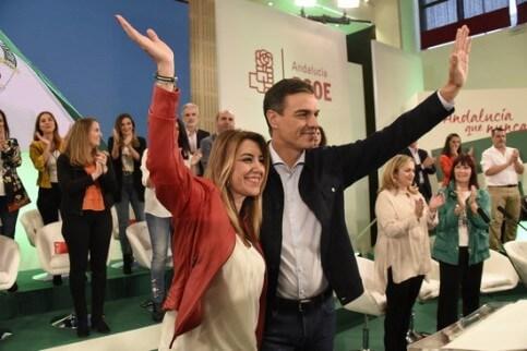 Susana Díaz and Pedro Sánchez