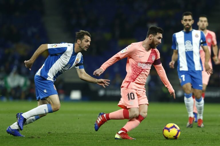 Messi against Espanyol