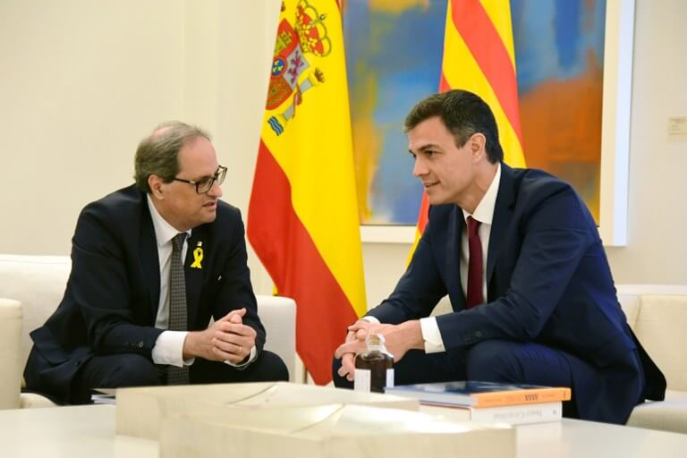 Quim Torra and Pedro Sánchez