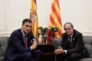 Pedro Sánchez and Quim Torra