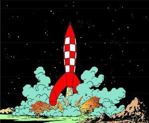 Tintin and the moon, Cosmocaixa 2018