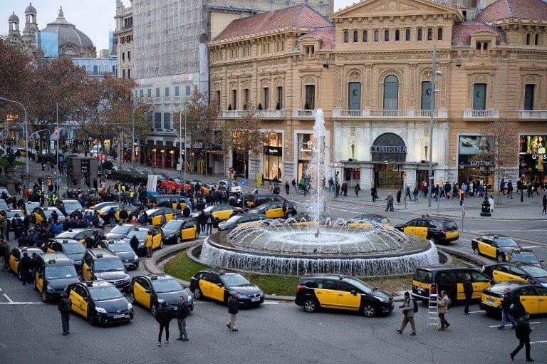 Barcelona Taxi Strike