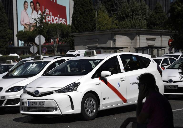 Madrid taxi strike