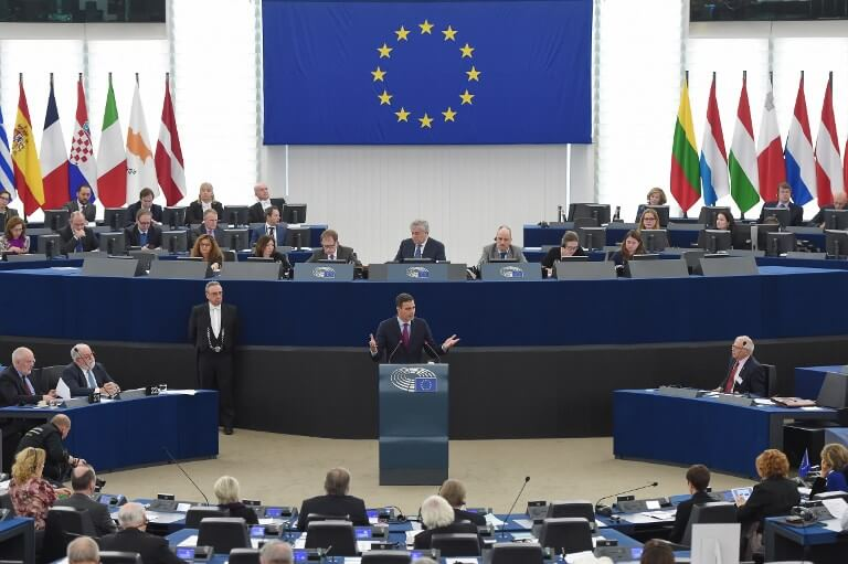 Sánchez at EU Parliament