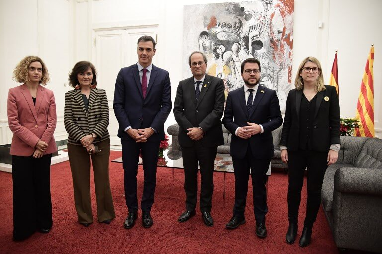 Spanish government and Catalan leaders