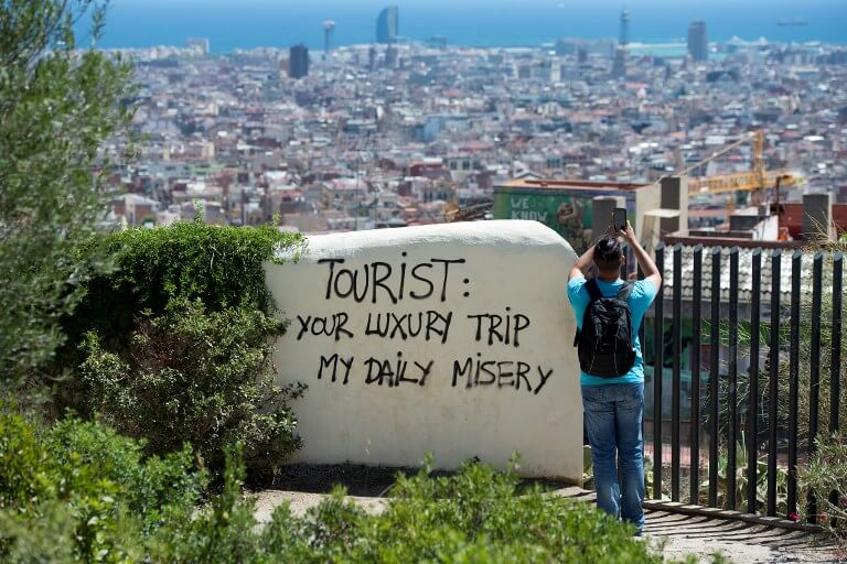 Too much tourism
