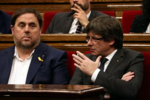 Oriol Junqueras and Carles Puigdemont