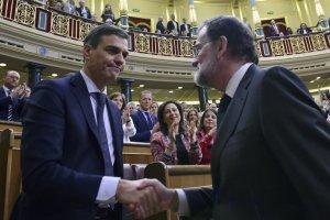 Pedro Sánchez and Mariano Rajoy