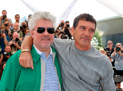 Pedro Almodóvar and Antonio Banderas