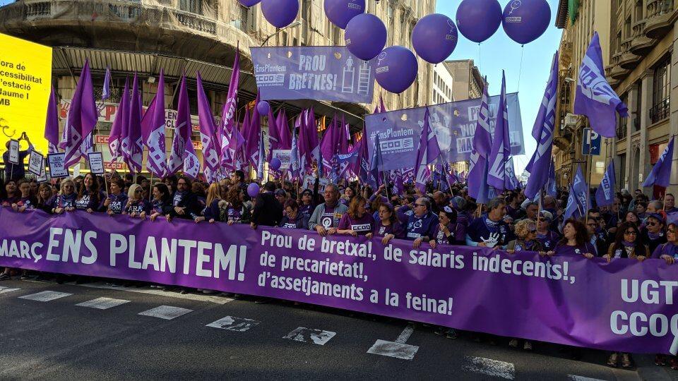 Women's Day March Barcelona