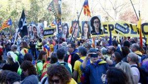 Protestors in Madrid