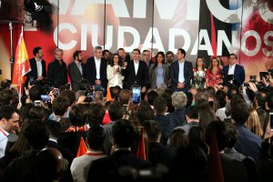 Ciudadanos (Cs) party on election night