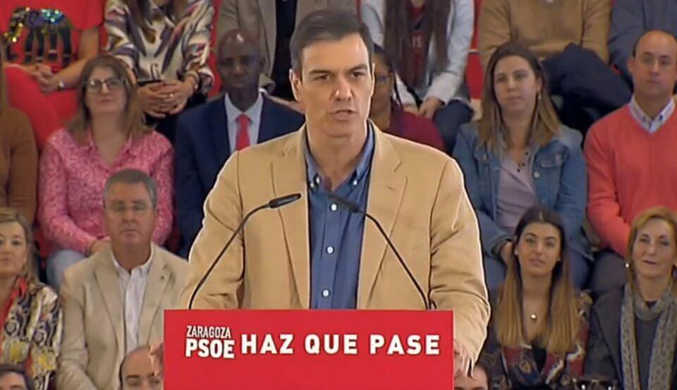 Pedro Sánchez in Zaragoza