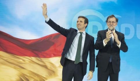 Pablo Casado and Mariano Rajoy