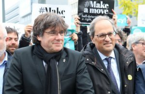 Puigdemont and Torra in Brussels