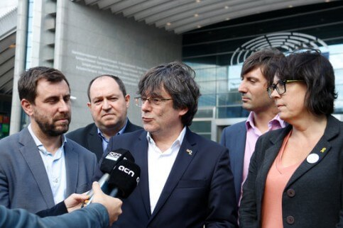 Carles Puigdemont and Toni Comin