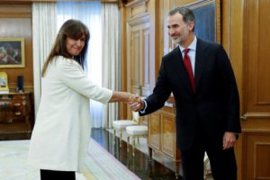 Laura Borràs with Felipe VI