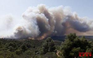 Wildfire in Catalonia