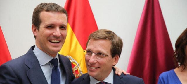 Pablo Casado and José Luis Martínez-Almeida