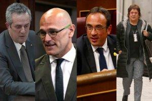 Joaquim Forn, Raül Romeva, Josep Rull and Dolors Bassa