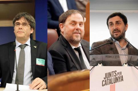 Puigdemont, Junqueras, Comín