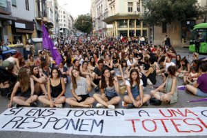 Women protest in Manresa
