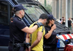 Catalan and Spanish police