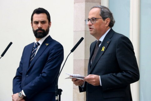 Quim Torra and Roger Torrent