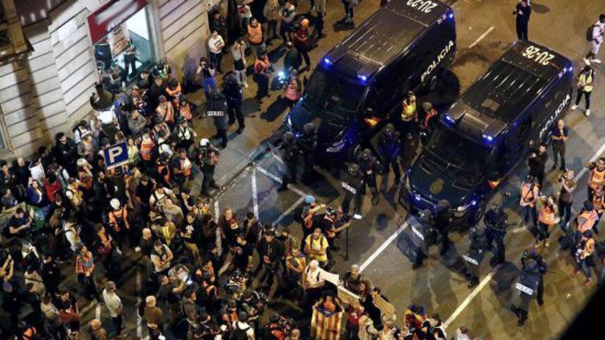Protests in Catalonia