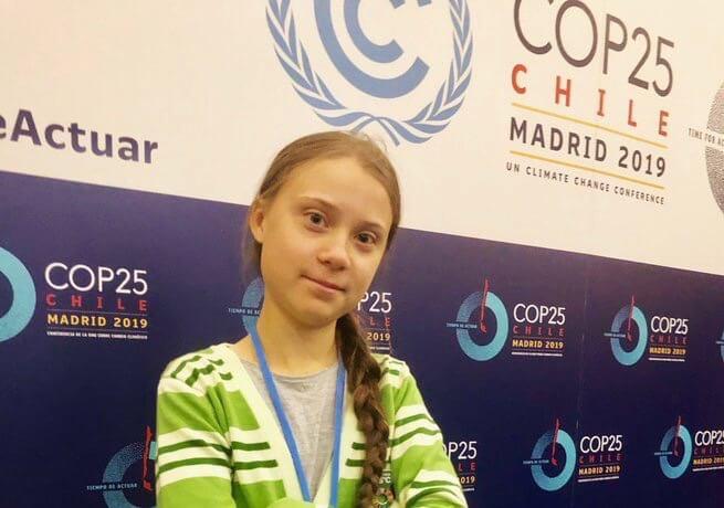 Greta Thunberg at COP25