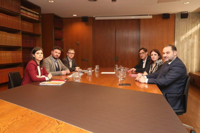 PSOE and ERC officials meeting
