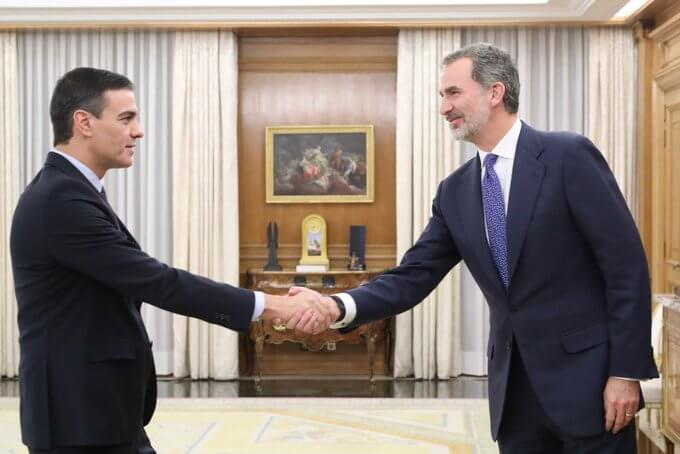Pedro Sánchez and Felipe VI