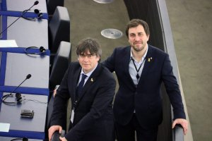 Carles Puigdemont and Toni Comín