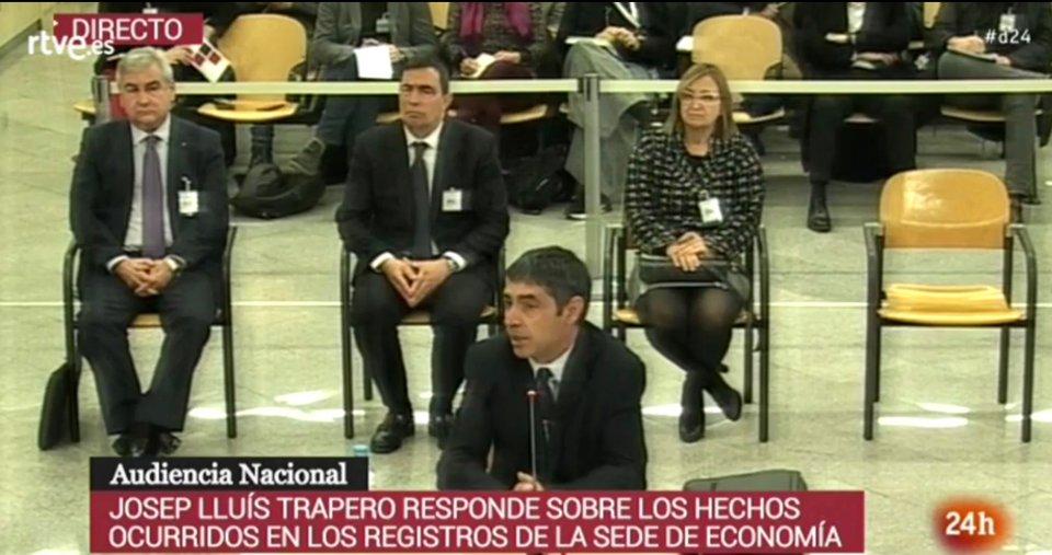 Trapero in court