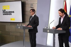 Salvador Illa and Pablo Iglesias