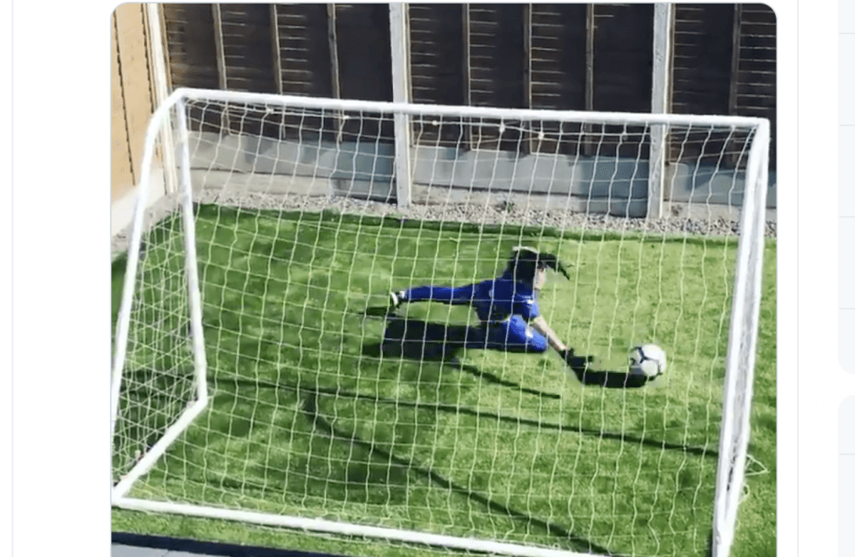 Boy goalkeeper