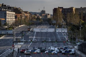 Police controls in Barcelona
