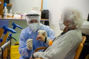 Elderly resident being tested for Coronavirus