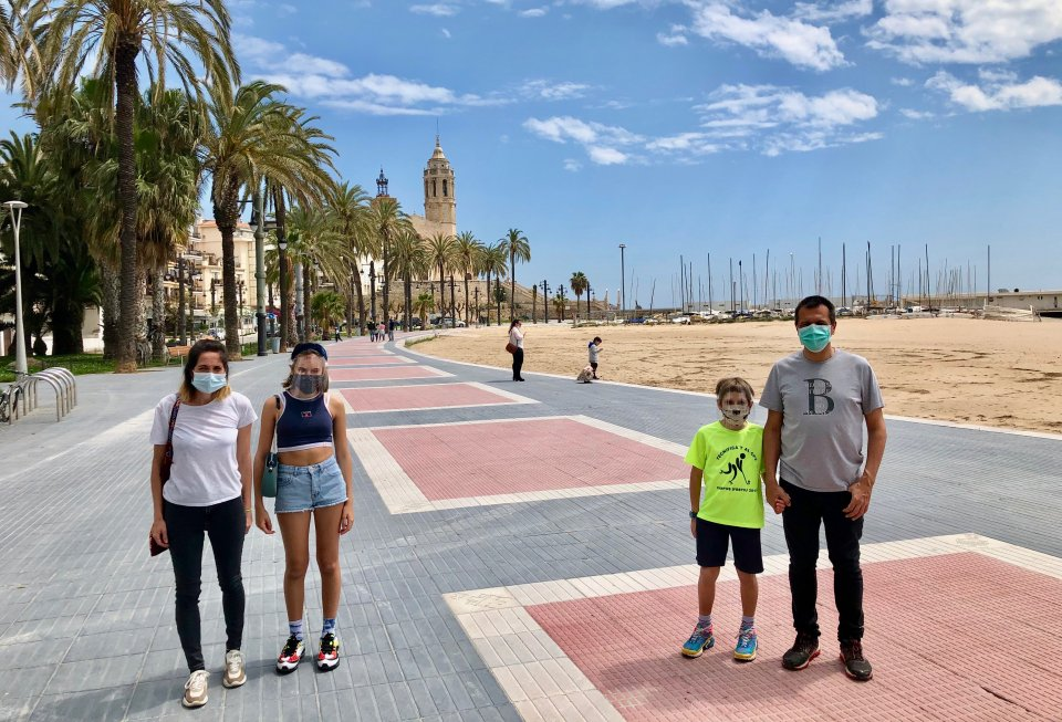 Family in Sitges